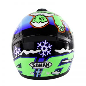 SOMAN SM962 Motorcycle Full Face Helmet Flip Up Adult Motocross Dirt Bike S/M/L/XL/2XL