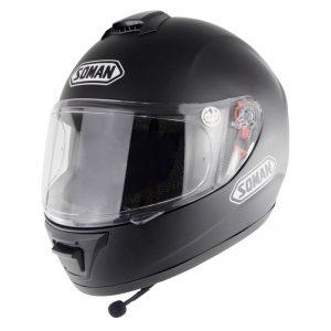 Soman SM962 DOT Motorcycle Helmet Full Face Motocross With bluetooth Headset