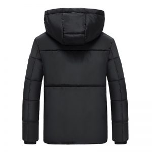 30-50 Electric Hooded Heated Coat USB Winter Heating Jacket Temperature Control