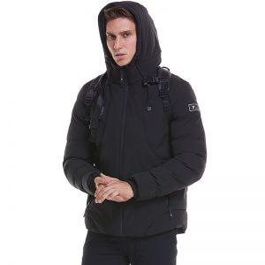 Electronic USB Heated Jacket Intelligent Heating Warm Back Cervical Spine Hooded Work Motorcycle Skiing Riding Coat