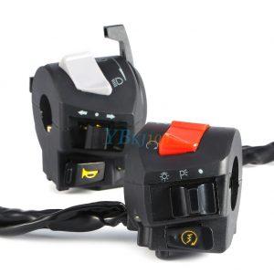 7/8inch 12V Motorcycle Handlebar Horn Turn Signal Light Headlight Control Start Switch