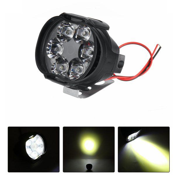 12V 8W 6LED Motorcycle Motorbike Front Spot LED Light Headlights Lamp