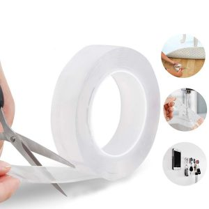300cm x 0.3cm 10FT Multi-functional Double Sided Reusable Nano Adhesive No-Trace Removable Glue Washable Strong Gel Anti-Slip Tape