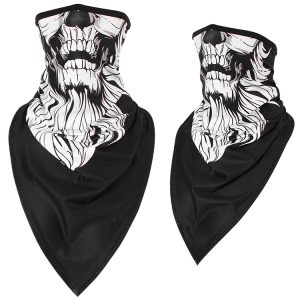 Sun-protection Skull Ice Silk Breathable Multi Use Scarf Face Mask Motorcycle Cap Head Wear Hat