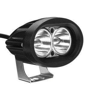 12V Motorcycle Oval Spotlight LED Work Light Waterproof IP67 Universal