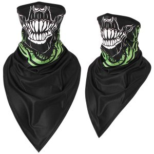 Sun-protection Skull Ice Silk Breathable Multi Use Head Wear Hat Scarf Face Mask Motorcycle Cap