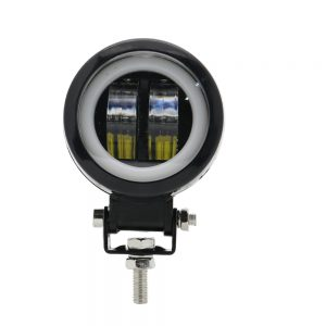 3inch 12/24V 6500K 20W Round LED Work Light With White Angel Eyes Lights Spot Fog light For Car Boat Motorcycle