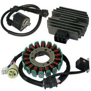 Stator & Regulator Rectifier Ignition Coil For YAMAHA RAPTOR 660 YFM660 2001-2005
