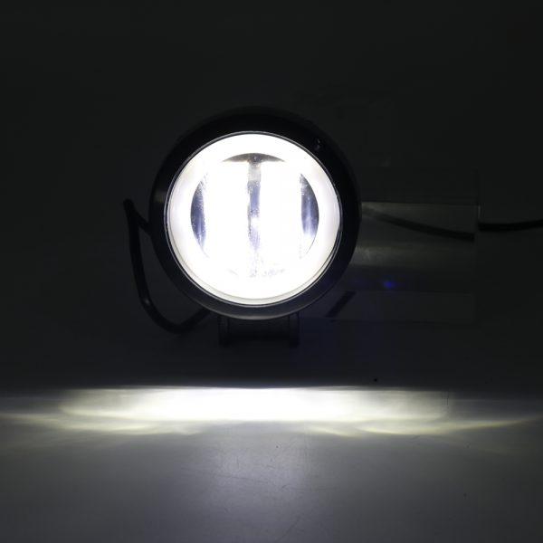 3inch 12/24V 6500K 20W Round LED Work Light Blue+White With Angel Eyes Lights Spot Fog light For Car Boat Motorcycle