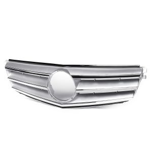 Car Chrome Silver Front Upper Grille Grill For Mercedes Benz C Class W204 C180 C200 C300 C350 2008-2014