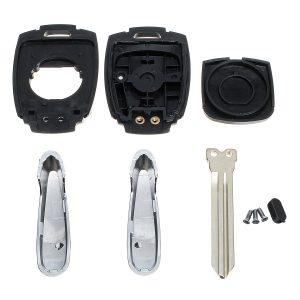 2 Button Fob Remote Key Case Shell Cover for SSANGYONG Actyon Kyron Rexton