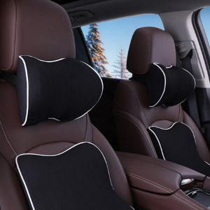 Space Memory Cotton Car Headrest U Shaped Functional Neck Pillow Auto Head Pillow Cushion Travel Pillow