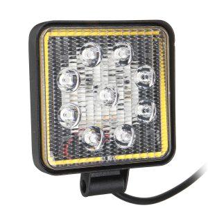 10V-30V 12V 100W LED Work Light 6500K with Aperture Driving Fog Lamp Off-road Roof Engineering Car Motorcycle SUV