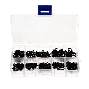 550Pcs External Circlip E-Type Snap Retaining Ring For Shaft 1.5mm to 6mm