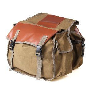 26L Motorcycle Saddlebags Canvas Bike Travel Luggage Riding Bag Khaki