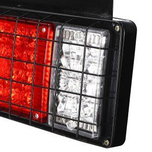 2PCS LED Tail Brake Lights Rear Turn Lamp for 24V Trailer Truck Caravans Boat