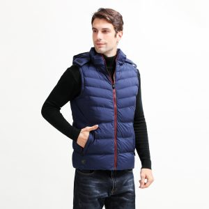Unisex Winter Electric Battery Heating USB Sleeveless Vest Temperature Control Heated Neck Back