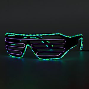 Dual Color EL Wire Cold LED Glow Glasses Lights Up Goggles Bar Party Shutter Halloween
