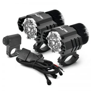 CNSUNNYLIGHT M25 2pcs Motorcycle LED Auxiliary Fog Lamp Assemblies Driving Headlights 50W For BMW R1200GS ADV F800GS F700GS F650GS K1600