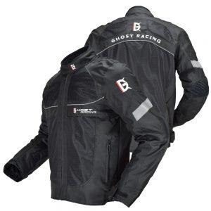 GHOST RACING Motorcycle Jacket Summer Men Moto Motocross Jacket Moto Protective Gear Breathable Mesh Reflective Jacket