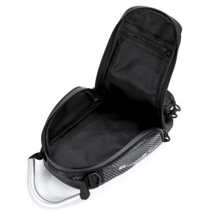 Magnetic Fuel Tank Bag Motorcycle Oil Saddlebags Touch Screen Phone Storage Bag Black