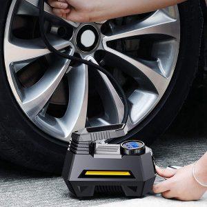 12V 150Psi 35L/min Portable Air Compressor Tire Inflator Pump With Digital Pressure Gauge Bright Emergency Flashligh For Car Motorcycle Bicycle 120W