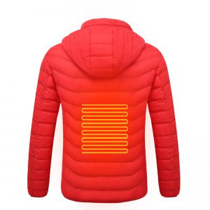 Electric USB Intelligent Heated Warm Back Abdomen Neck Cervical Spine Hooded Winter Jacket Motorcycle Skiing Riding Coats