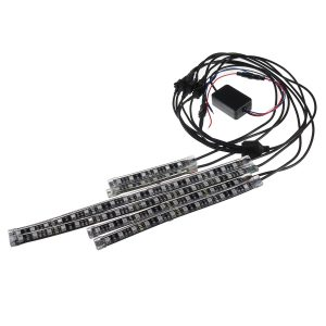 12V 8Pcs 30CM Waterproof LED Flexible Atmosphere SMD Strip Light Underbody For Automobile Car Motorcycle Truck ATV Snowmobile