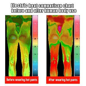 Electric USB Winter Heated Warm Pants Trousers Heating Fleece Skiing Warmer Men L-7XL