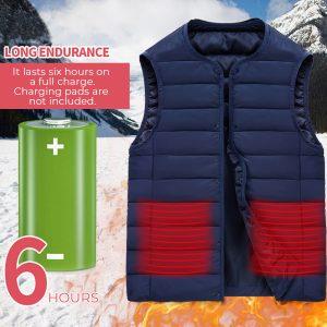 Electric Battery Heating USB Sleeveless Vest Winter Heated Outdoor Jacket