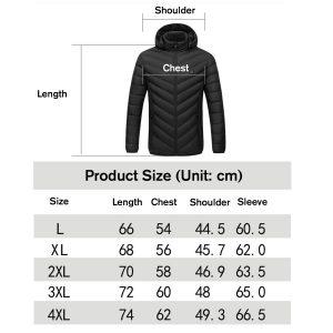 Electric USB Intelligent Heated Coats Jackets Hooded Heating Back + Neck Vest Winter Warmer Men Women
