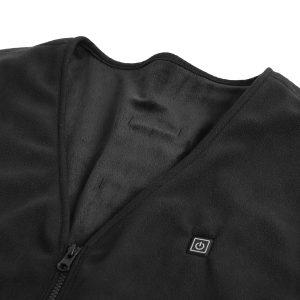 45-65C Electric Heated Waistcoat Vest Winter USB Sleeveless Heating Jacket Black