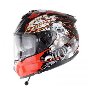 SOMAN SM961 bluetooth Full Helmet Motorcycle Racing Double Lens Riding Safety ECE