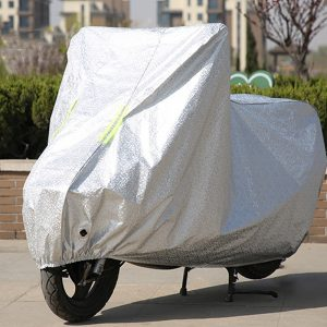 Motorcycle Protector Cover Rain Dust Waterproof Nylon Sheet Motorbike With Reflective Strip