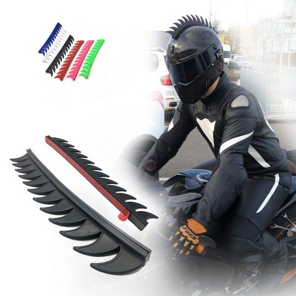 Motorcycle Helmet Reflective Decals Sticker Dirt Bike Rubber Strip Decoration