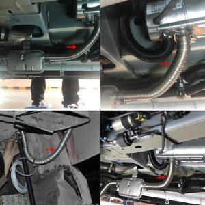 2M 2.5cm Stainless Steel Exhaust Pipe Parking Air Heater Tank Diesel Gas Vent