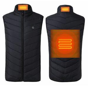 5V USB Electric Vest Heated Jacket Thermal Warm Neck + Back Pad Winter Body Warmer Cloth