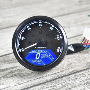 12V 12000RPM Waterproof LCD Digital Motorcycle Speedometer Odometer Tachometer MPH/KMH Universal