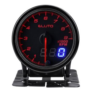 2 Inch 52mm Auto Tach Tachometer RPM Gauge Meter 10 Color LED Tinted Face Universal