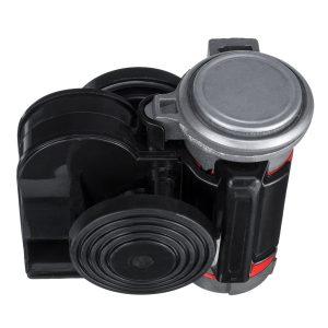 24V 139dB Dual Tone Electric Air Horn Trumpet Pump Compressor Super Loud For Car Truck Motorcycle