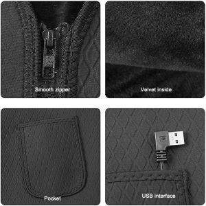 M / L / XL Thermostatic Intelligent USB Winter Outdoor Heating Sleeveless Vest
