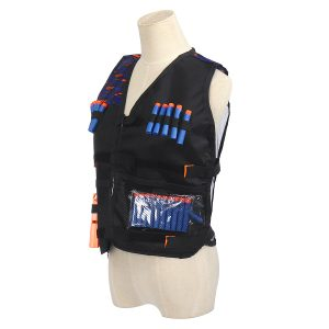 Kids Tactical Vest Kits Glasses Wristbands Mask Refill for Darts Games Gift