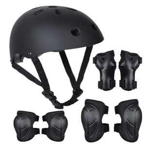 Kids Skating Pad Safety Helmet Protective Gear Set Child Wrist Guards Elbow Knee Pads For Bike Cycling Scooter Outdoor Sports