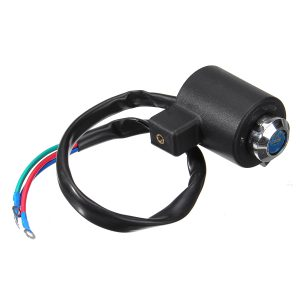 Ignition Key Coil Switch 3 Wire For Harley Davidson XL FX Round Barrel Key For Sportster For Dyna