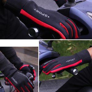 Men Women Outdoor Gloves Winter Warm Touch Screen Reflective Windproof Riding Ski Sports Waterproof