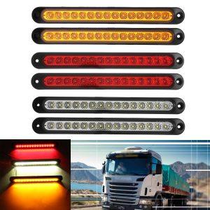 6Pcs 15LED Tail Light Ultra-slim Stop Reverse Turn Signal Lights 10-30V for Trailer Truck Caravan