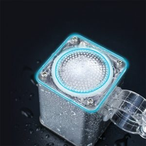 Wireless Motorcycle bluetooth Speaker With LED Headlights Audio Voice Navigation Electric Bike Waterproof