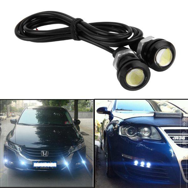 9W LED COB Car Fog Lights Wireless Remote Daytime Running Light Driving Lamps