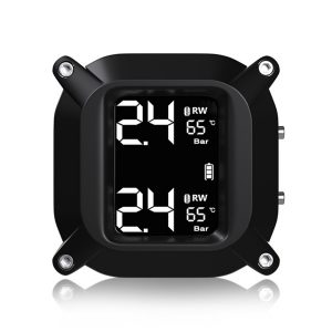 M6 LCD Display Motorcycle Real Time Tire Pressure Monitor System Waterproof TPMS Wireless External WI Sensors