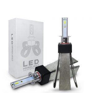 Roadsun 2pcs 12V/24V T8 LED Bulb H1/H4/H7/H11/9005/9006 White Headlights 60W 6000Lm COB Headlamp Auto Fog Light Lamp Bulb